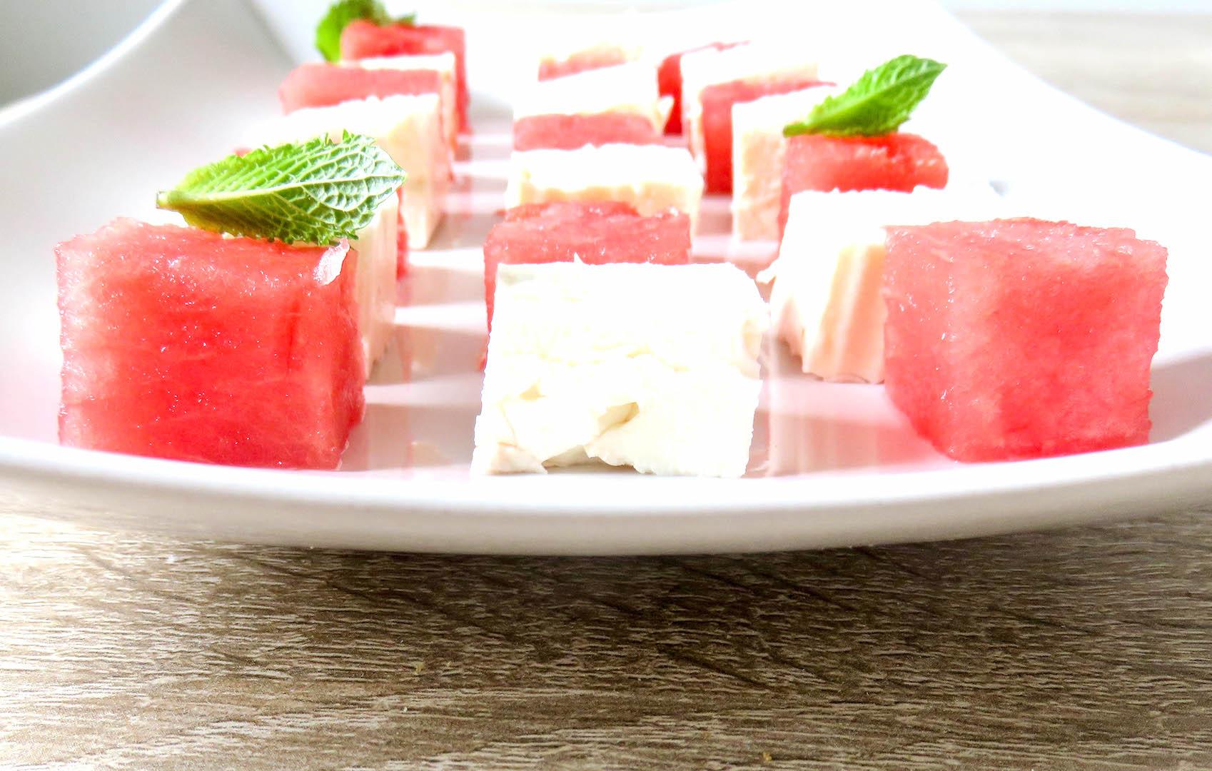 Melonensalat-Feta