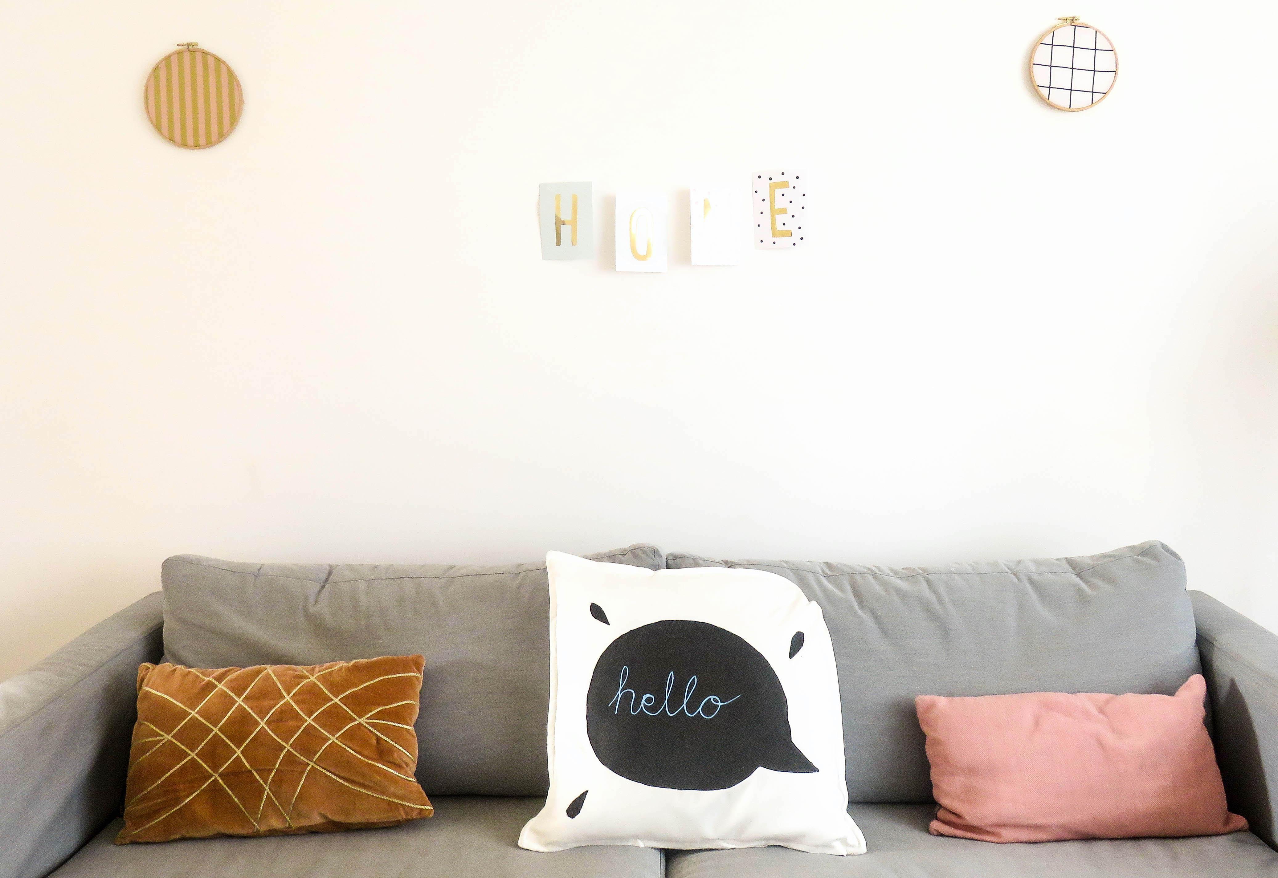 diy kissen mit tafelfarbe bonbont te. Black Bedroom Furniture Sets. Home Design Ideas
