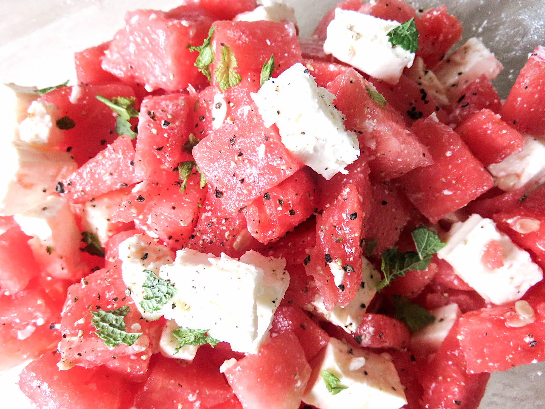 Feta-Wassermelone