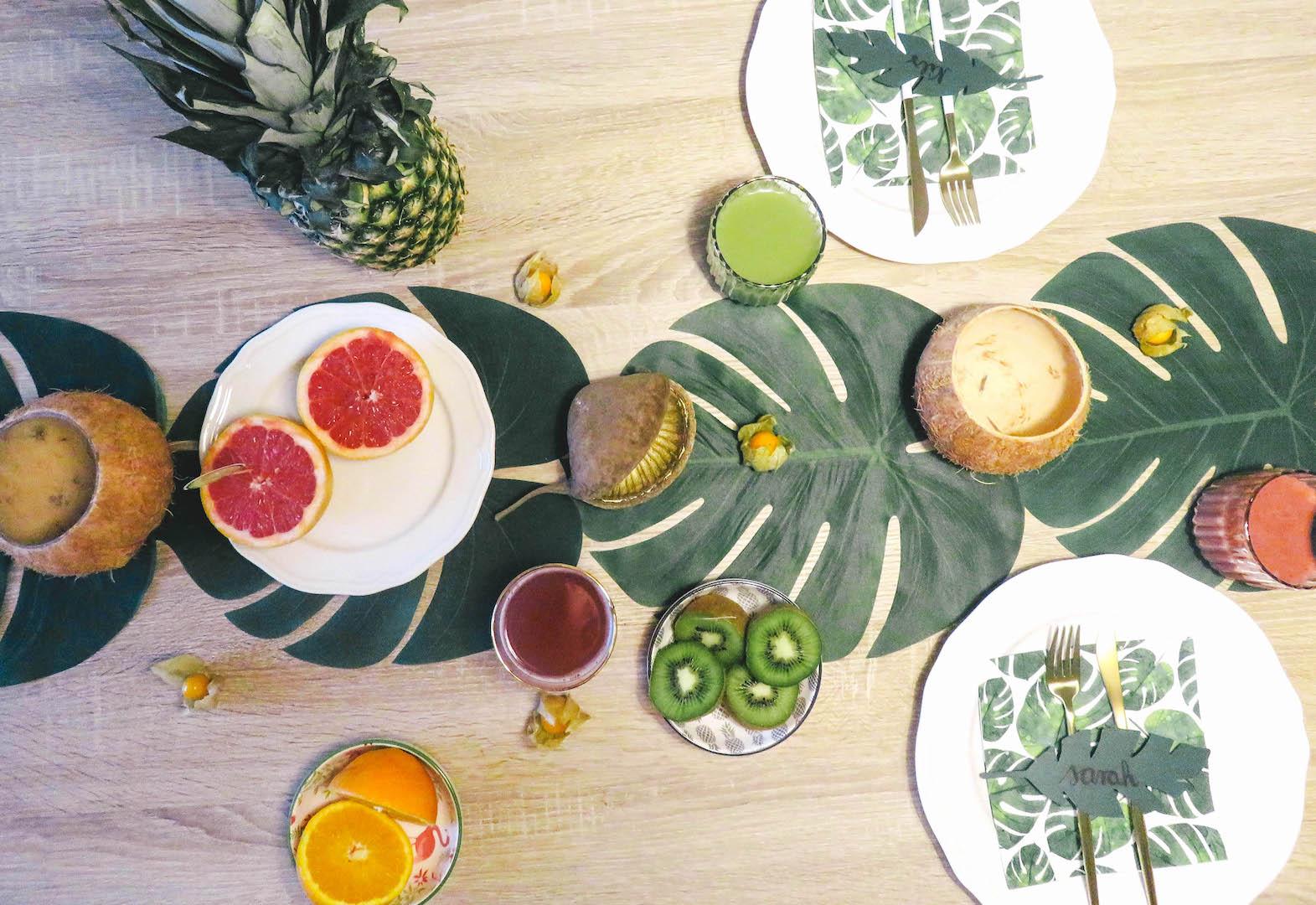 Tropische Tischdekoration - Bonbontüte