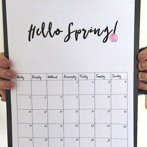 Kalender-Drucken