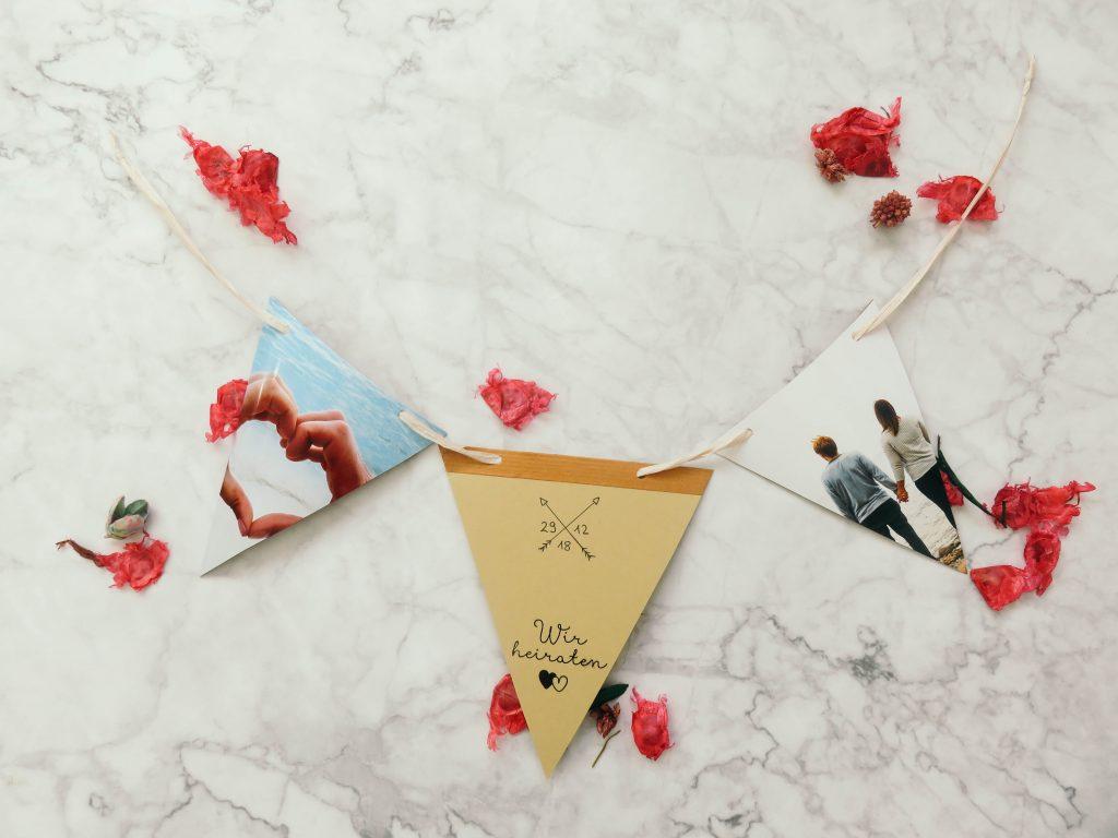 Diy Hochzeitseinladung Wimpelkette Bonbontute